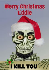 Personalised Achmed I Kill You Christmas Card